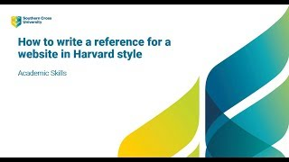 How to write a ŗeference for a website using Harvard referencing style