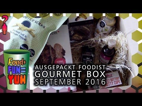 Food+Fun=Yum - Foodist Gourmet Box September 2016 ausgepackt! - Deutsch