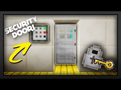 Minecraft - How To Make A Working Security Door