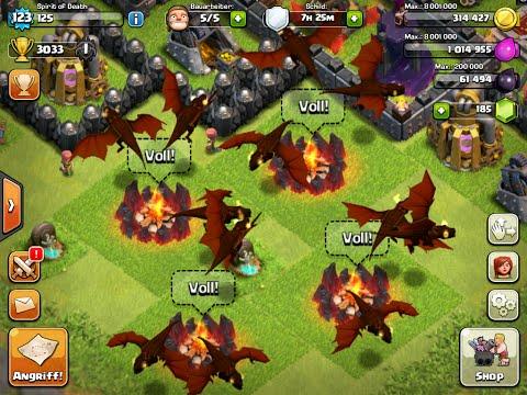 [ENGLISH] Clash Of Clans - ALL MAX LEVEL 4 DRAGON Raid #9 - against a fully maxed base