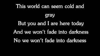 Avicii- Fade Into Darkness (lyrics)
