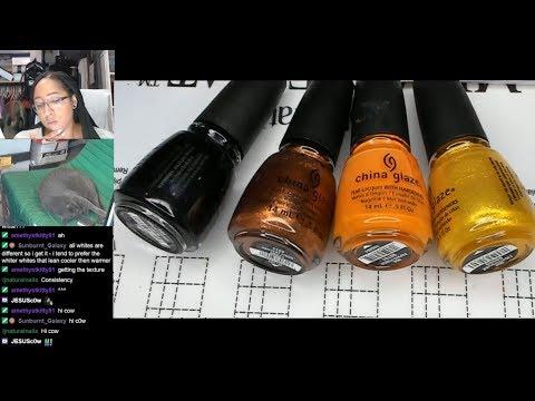 Nail Polish Testing | Halloween Water Marble | Extended Nail Art Tutorial [Streamed 9/28/19] thumbnail