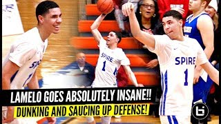 LaMelo Ball 45 POINTS In 1st Playoff Game!! TOYS w/ The Defenders w/ LaVar & Gelo Watching!!