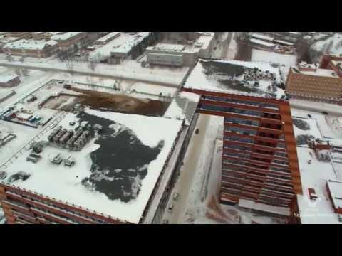 Зимний Новосибирск Аэросъемка / Winter Novosibirsk Air Survey