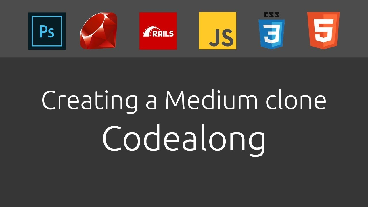 [Part 57] Creating a fullstack Medium clone |Codealong| Ruby on Rails,  Photoshop, CSS[Intermediate]