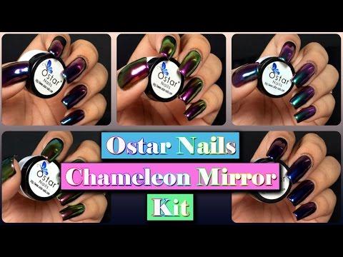 Multichrome Mirror Nails - Ostar Nails Chameleon Mirror Kit