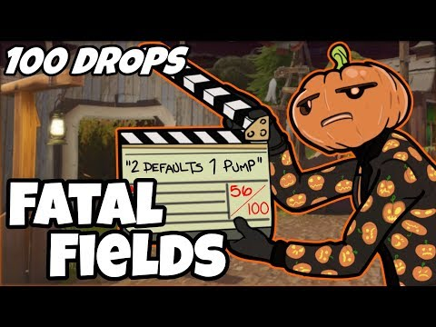 I Dropped Fatal Fields 100 Times And This Is What Happened (Fortnite)