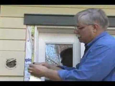 Exterior door insulation youtube for Front door insulation