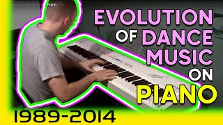 evolution of dance music on piano