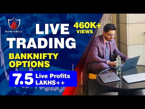 Live Trading || BankNifty Options || 7.5 Lakh ++ Live Profits || Anish Singh Thakur || BoomingBulls