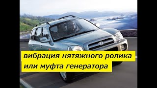 Вибрация натяжного ролика вспомогательных агрегатов Hyundai Santa Fe I CRDi D4EA в чем причина