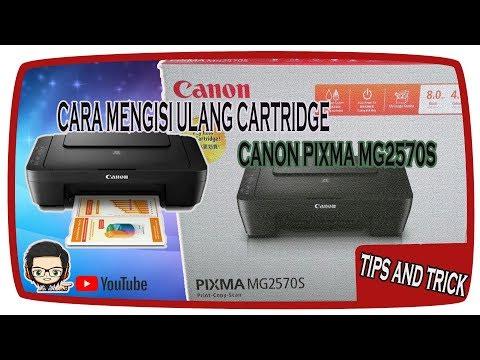 Cara mengisi ulang tinta di Cartridge Canon Ip2770..
