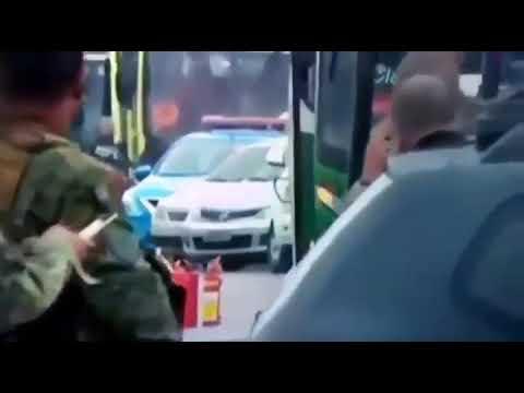 Momento em que sequestrador é morto por snipper no RJ