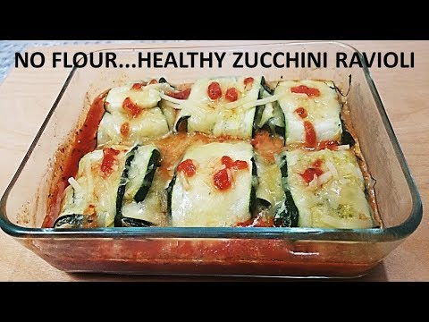 NO FLOUR…HEALTHY ZUCCHINI RAVIOLI – QUICK & EASY TO MAKE
