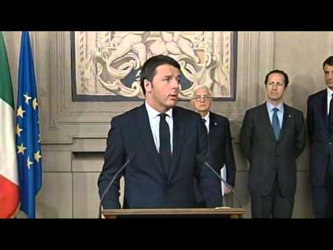 Renzi Discorso al Quirinale Dopo Incarico Governo da Napolitano - Video