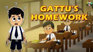 Gattu's Homework | English Moral Stories | English Animated Kids Stories | English Cartoon