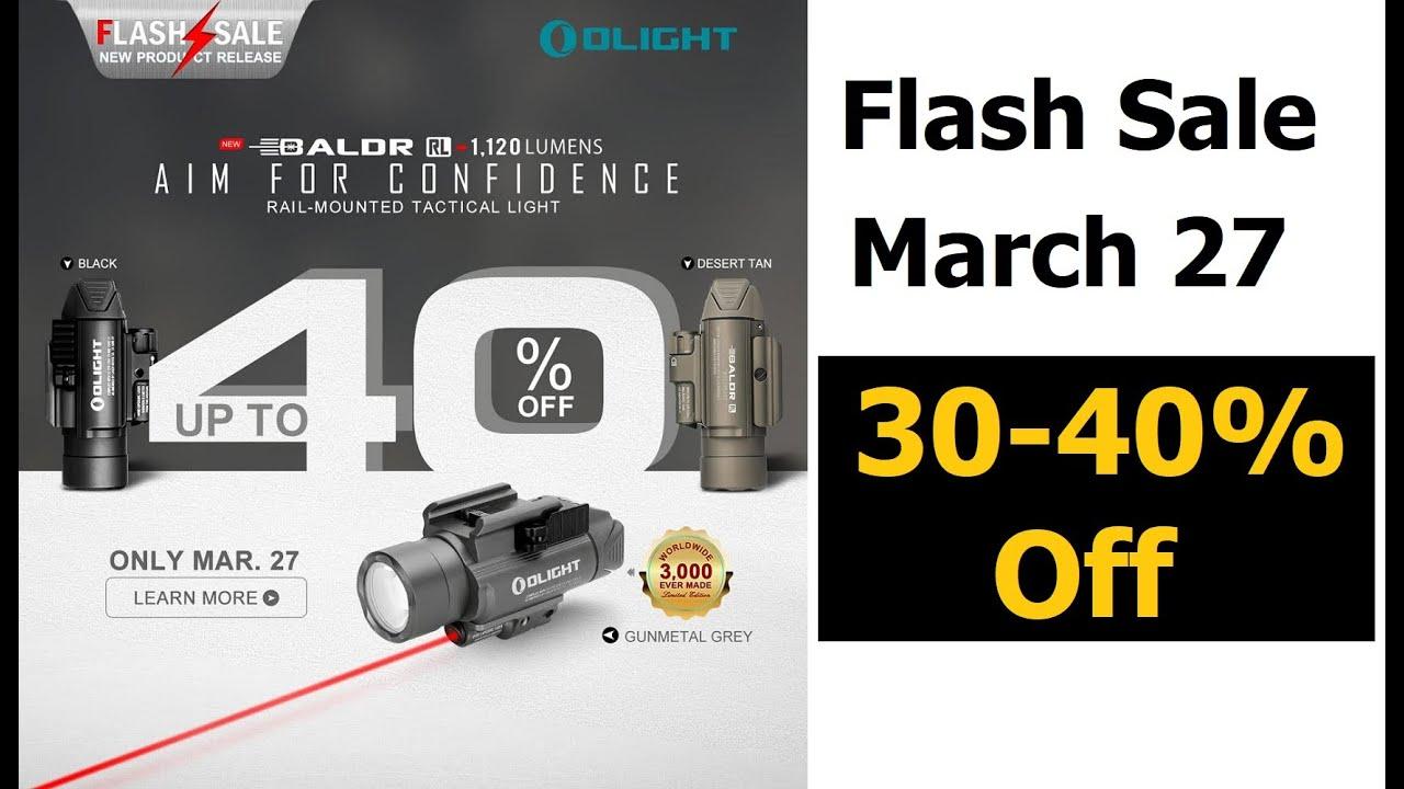 Olight Baldr RL Light Laser 40% off Flash Sale March 27th