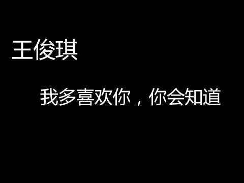 王俊琪  《我多喜欢你,你会知道》 歌词 lyrics