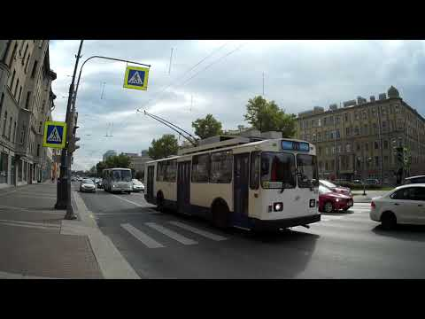 Троллейбус ВМЗ-170 маршрут 44 г. Санкт-Петербург