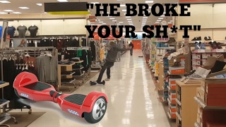 HARD HOVERBOARD CRASH IN TARGET *KICKED OUT*