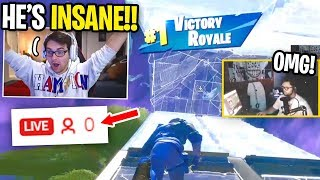 Reacting to Fortnite Streamers with 0 VIEWERS #2 (BETTER THAN BENJYFISHY)