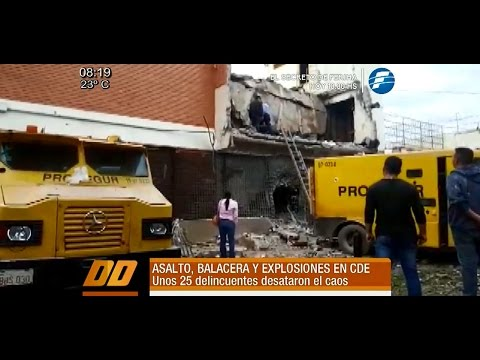 Balacera, muerte y terror en Ciudad del Este tras asalto a Prosegur