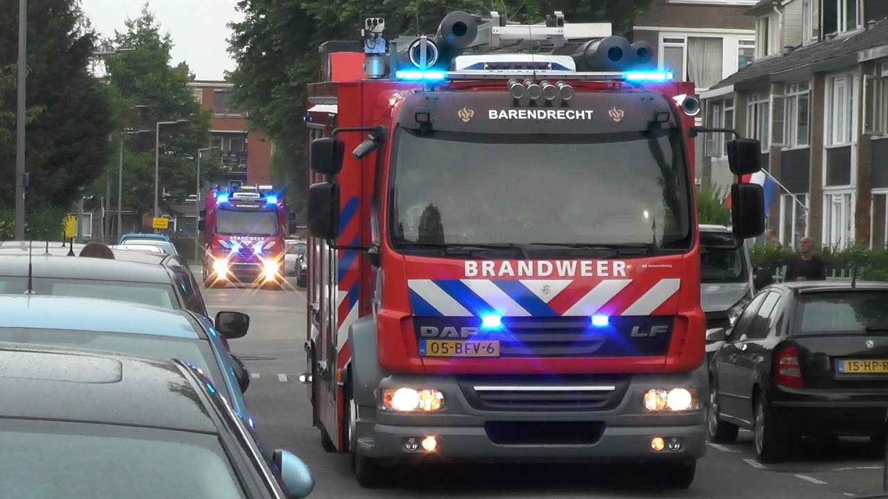 Brandweer Barendrecht, Waterweg en Rotterdam met spoed naar meldingen! #1349