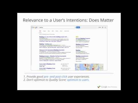 Settling the (Quality) Score - Google Best Practices