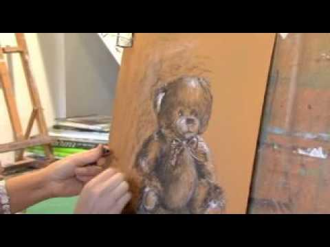 Canson pr sente dessiner un ours en peluche au fusain par delphine priollaud youtube - Comment dessiner un ours ...