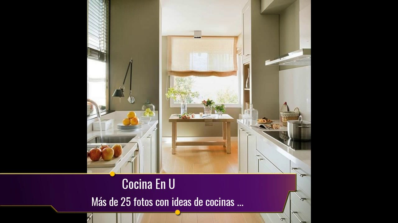 Más de 25 fotos con ideas de cocinas en U - YouTube