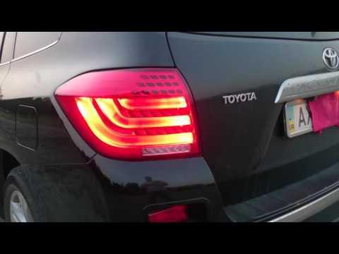 Toyota Highlander. Альтернативная задняя LED оптика для Toyota Highlander