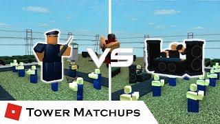 DJ vs Commander (Pt.1) | Tower Matchups | Tower Battles [ROBLOX]