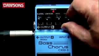 BOSS CEB-3 Bass Chorus Pedal Review