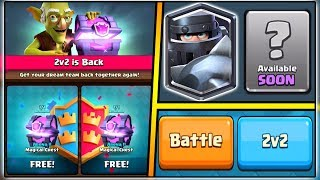 NEW CLASH ROYALE UPDATE | MEGA KNIGHT & 2 FREE MAGICAL CHEST OPENING | 2V2 UPDATE!