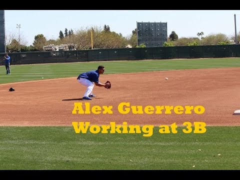 ALEX GUERRERO Working at Third Base | March 14, 2015
