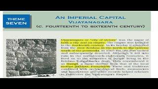 NCERT 12th HISTORY Theme 7 – An Imperial Capital Vijayanagara