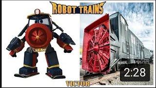 Robot Trains Characters in Real Life  Robot Trenler Vitamin Etkisi  Robot Trenler X Ailesi