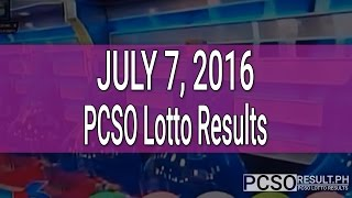 PCSO Lotto Results July 7, 2016 (6/49, 6/42, 6D, Swertres & EZ2)