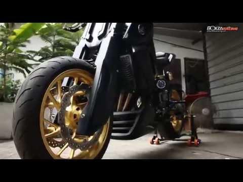 Honda CB650F ตัวแต่ง Naked Bike ระดับแชมป์ Idea Challenge 2015 By BoxzaRacing
