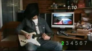 Bruit du moteur dune F1 à la guitare