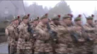 Black Watch parade through Aberfeldy, Highland Perthshire