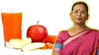 Apple Carrot Juice - Health Drink During Pregnancy | Mallika Badrinath Recipes