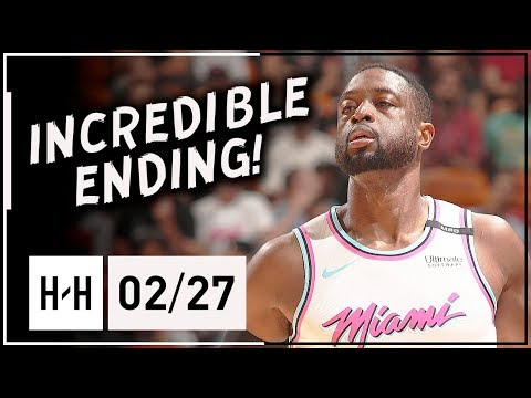 Dwyane Wade AMAZING Full Highlights Heat vs 76ers (2018.02.27) - 27 Points, GAME-WINNER!