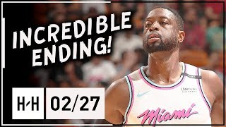 Dwyane Wade AMAZING Full Highlights Heat vs 76ers (2018.02.27) - 27 Points, GAME-WINNER!