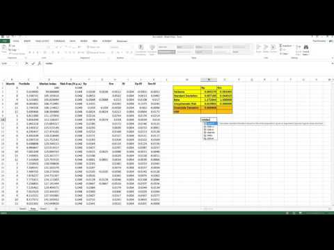 Calculating Downside Risk In Excel