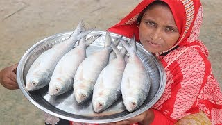 Village Food Ilish Macher Jhol Recipe Tasty & Spicy Cooking Traditional Bengali Hilsa Fish Curry