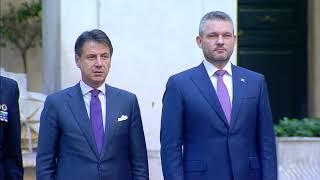 Incontro del Presidente Conte con il Primo Ministro della Repubblica Slovacca