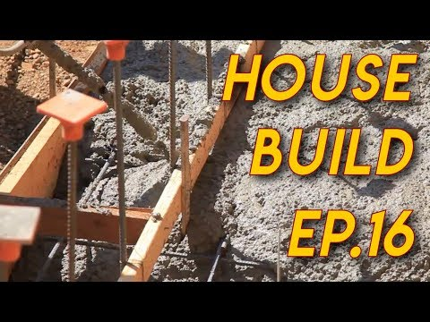 Pouring a Concrete Footing: Ep16