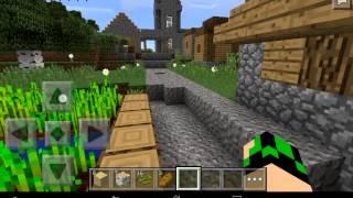 Minecraft PE 0.10.5 выживание в деревне #1