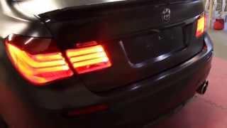 BMW F01 7 Series Satin Black Wrap 360